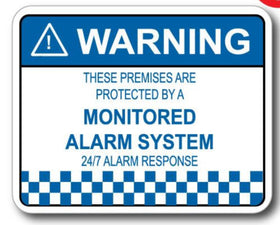 6 Pack of 24 Hour Monitored Alarm Stickers