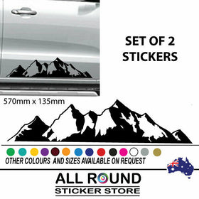 MOUNTAIN DECAL 4x4 CAR STICKER 4WD LARGE