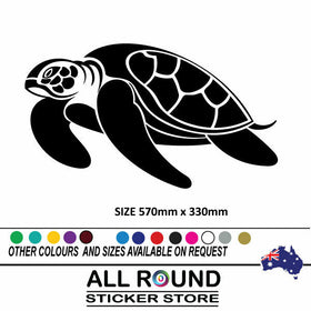 Large TURTLE Decal for Vehicle Boat RV Campervan Caravan Motorhome