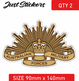 AUSTRALIAN ARMY Decal Sticker Australian Military Patriotic logo