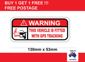 GPS Tracking warning sticker tracking
