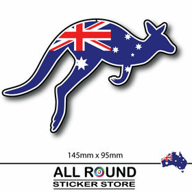 Australia FLAG sticker with kangaroo bumper sticker for car, window, laptop, fri