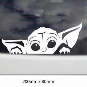 Peeping Yoda Car Sticker Decal Drift JDM Car Window CUTE  PEEKING YODA , laptop