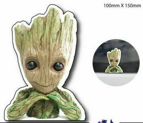 Peeping BABY GROOT Sticker Decal - peeking  Cute Funny JDM  decal