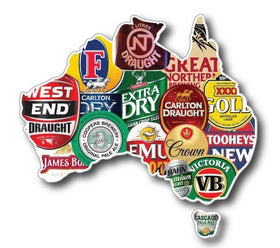 240mm  Australian Beer Map sticker for vehicle, man cave, 4x4