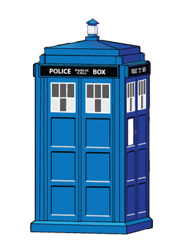 Large Tardis Phone Booth Sticker