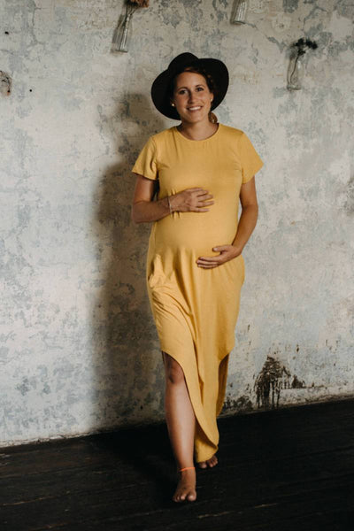 Bamboo dress yellow