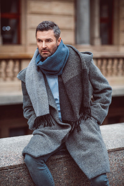 Grey Blue Scarf