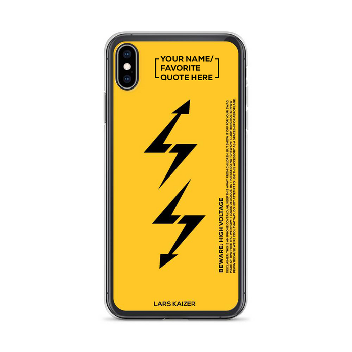 [CUSTOMIZABLE] iPhone Case LTNG | YELLOW MATTE - LARS KAIZER