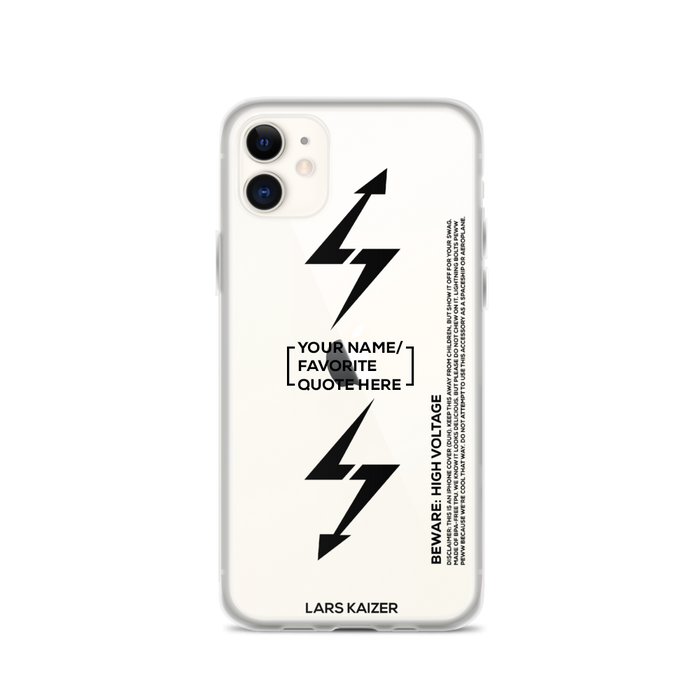 [CUSTOMIZABLE] LTNG for iPhone 11 | BLACK TEXT/ TRANSPARENT - LARS KAIZER