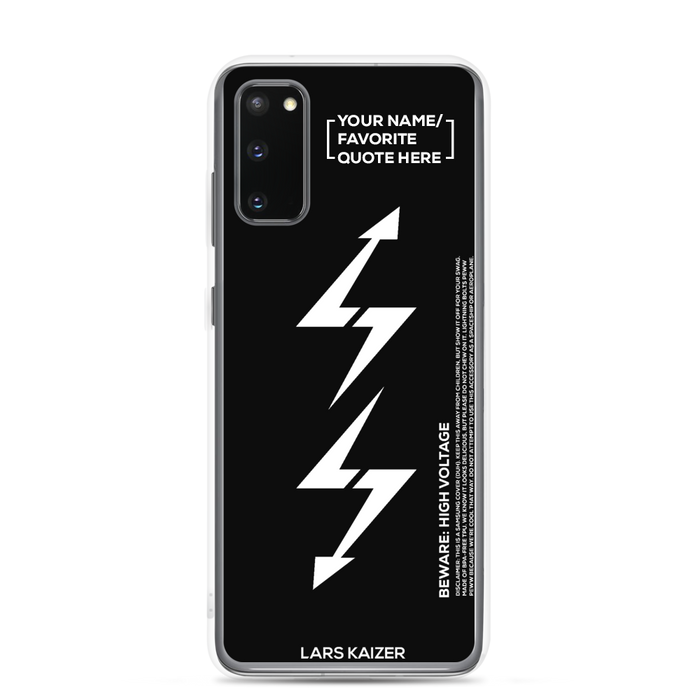 [CUSTOMIZABLE] Samsung S10 & S20 LTNG Case | BLACK MATTE - LARS KAIZER