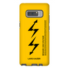 Yellow Samsung Galaxy Note 8 protective case
