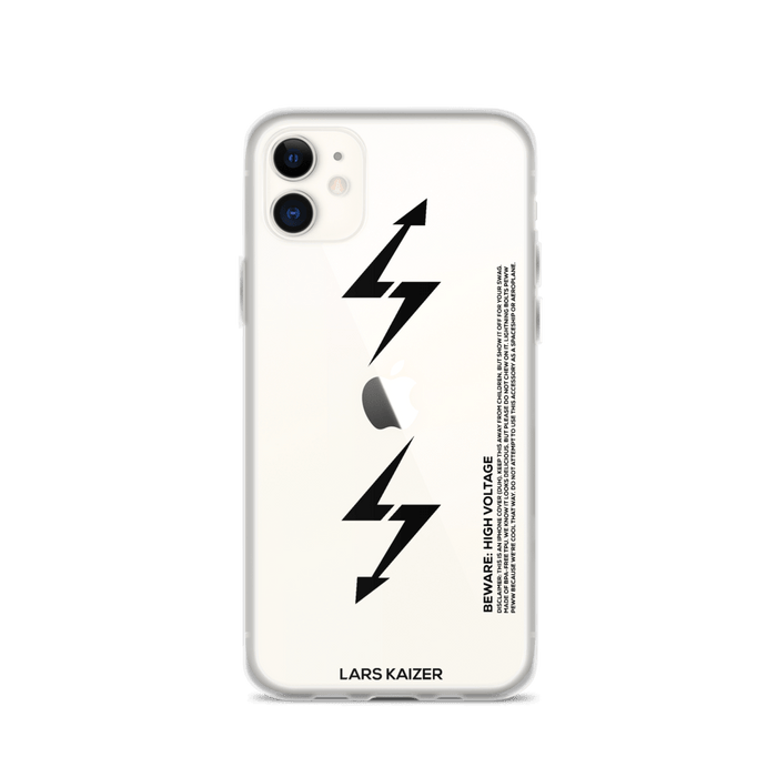 iPhone 11 Series Exclusive: LTNG-00 Case I Black Text/Transparent - LARS KAIZER