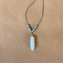 Gemstone Necklace - Opalite White