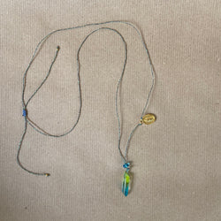 Crystal Necklace - Green Blue Ombre