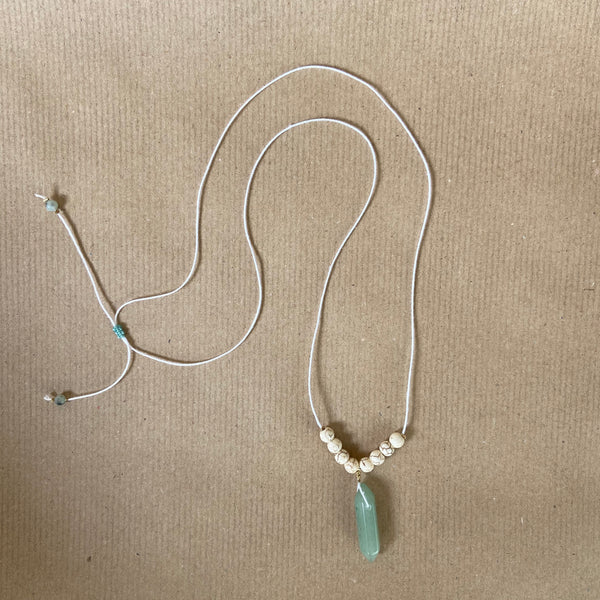 Gemstone Necklace - Jade Green