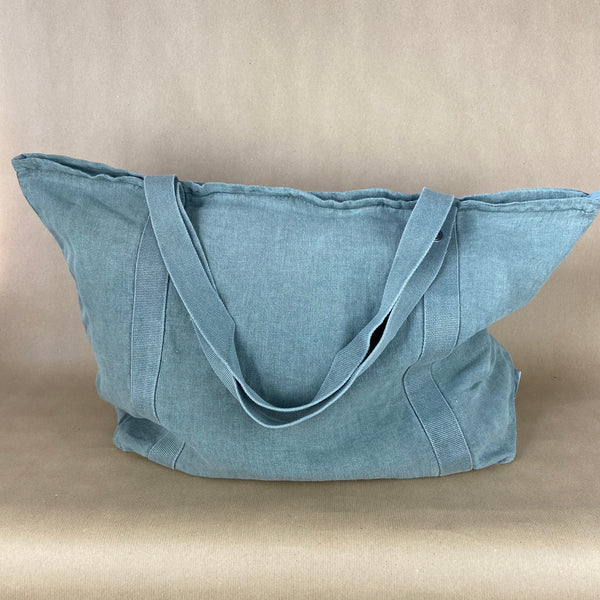 Olive Linen Bag with Zipper