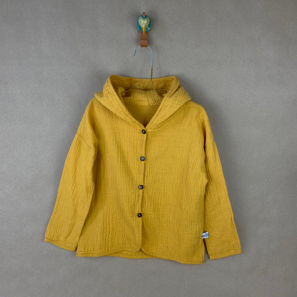 Toddler Hooded Jacket - Mustard-coloured