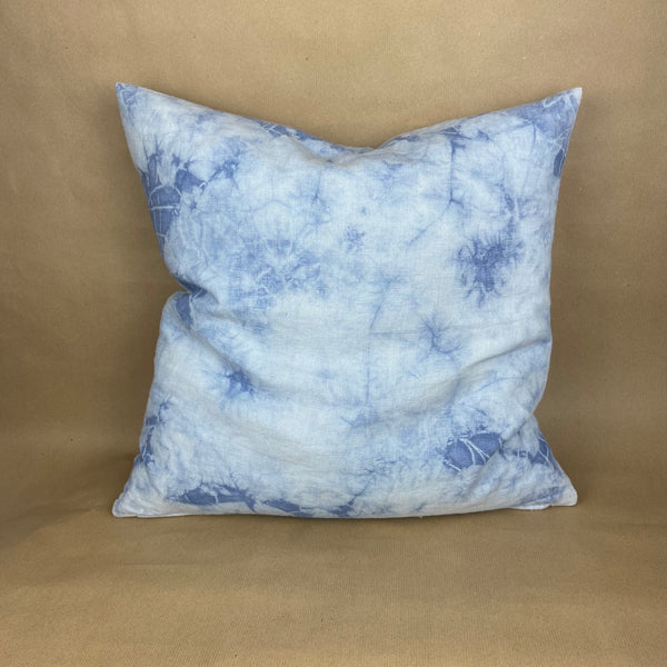 Batik Pillow Linen Blue
