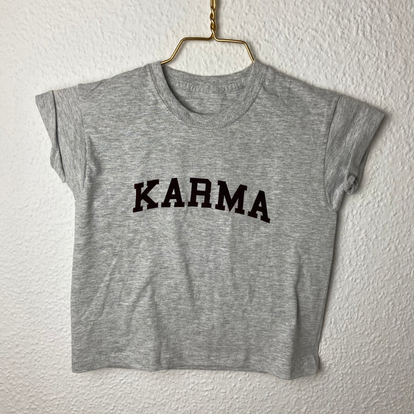 'KARMA' Kids Shirt grey bordeaux