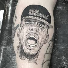 The Game dotwork portrait tattoo