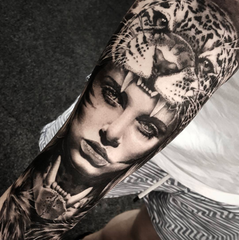 realistic tattoo portrait