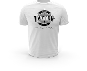 Official INK + OILS signature white premium t-shirt