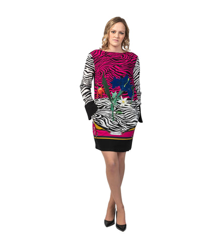 Crepe Sable Print Zebra City