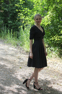 Polk A Dot Swing Dress