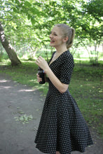 Load image into Gallery viewer, Polk A Dot Swing Dress