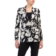 Load image into Gallery viewer, Black Floral Print Blazer