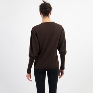 Johnstons of Elgin Tapered Sleeve Cashmere Sweater