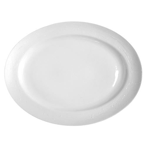 Plato oval Olympus  - White Tears - 35 cm
