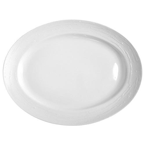 Plato oval Olympus  - White Tears - 29 cm