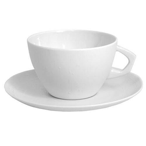 Taza de té y plato City - White Tears - 9,5 cm