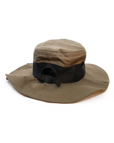 Olive Wide Brim Sunsmart Hat with mesh sides