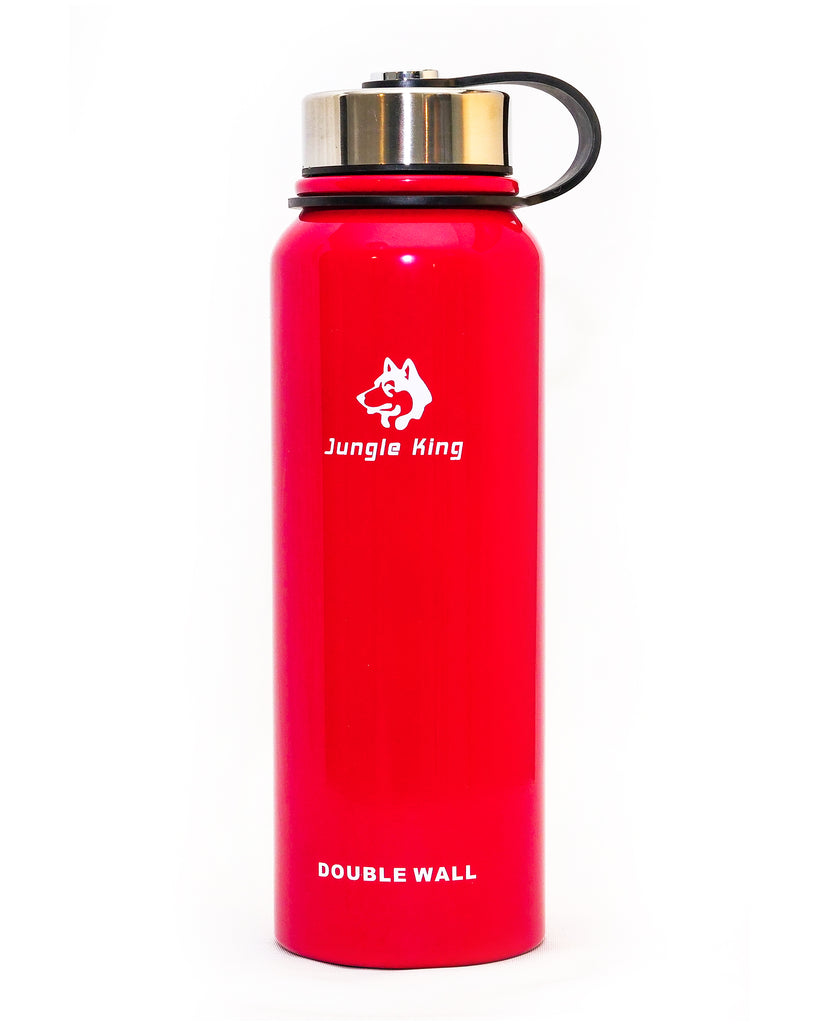 Red double walled thermos 1100ml
