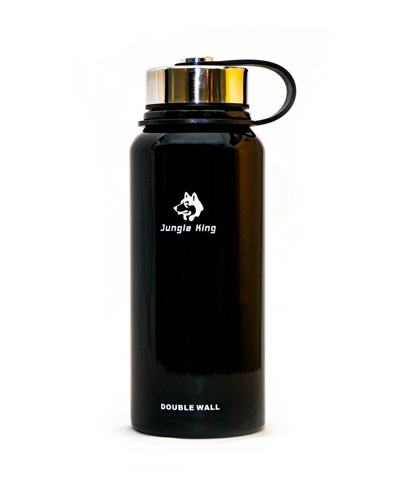 Black double walled thermos 800ml