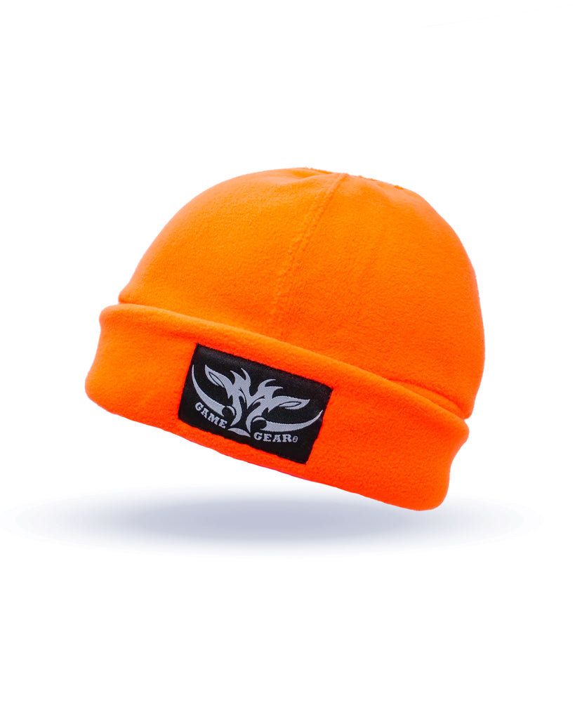 Orange Hi Viz Fleece Beanie