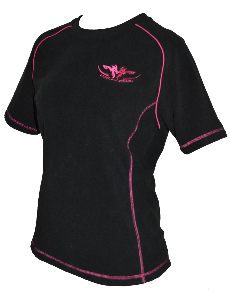 Ladies Fleece Tee Pink