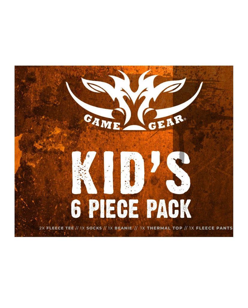 Kids 6 piece Fleece pack including thermal top