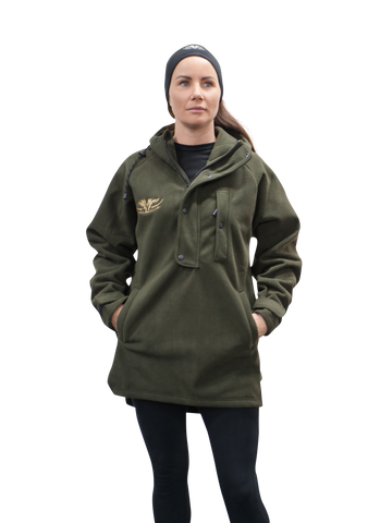 Ladies Windproof Hunting and Outdoors Jacket Olive