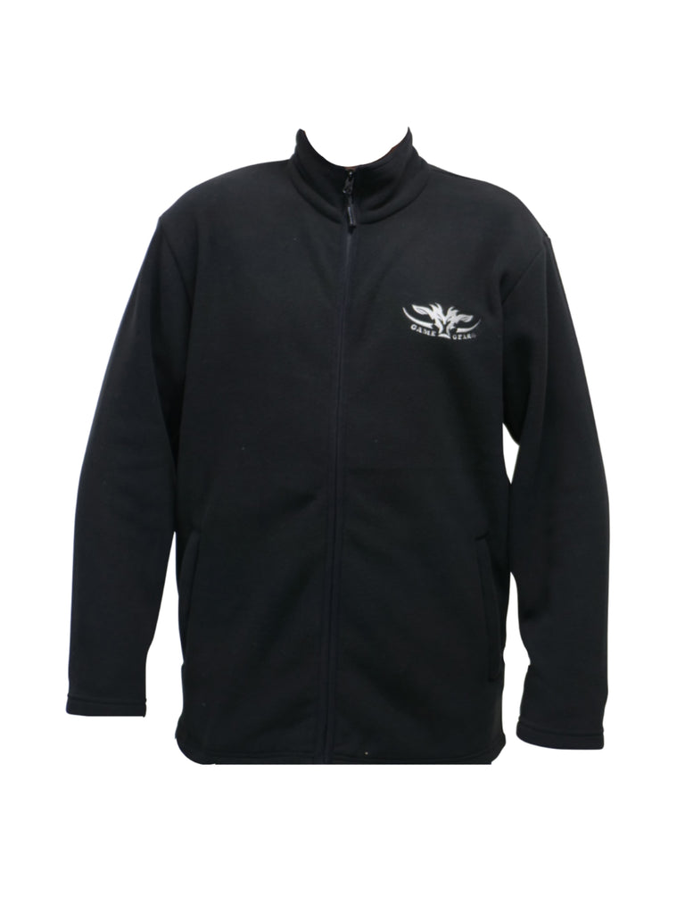 Black fleece Jersey with full zip
