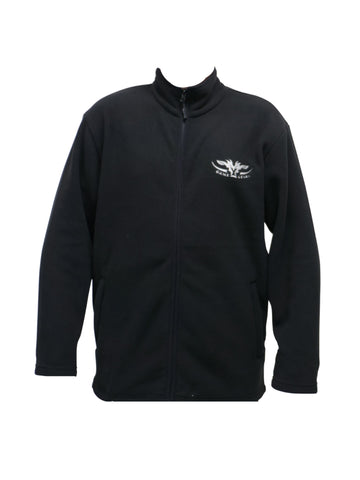 Black Fleece Jersey with full zip and zippered pockets