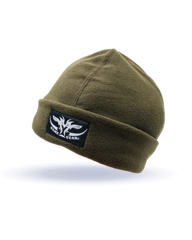 Olive Fleece Beanie for hunting and outdoor