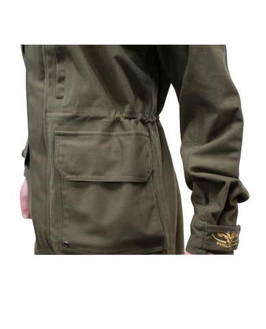 Ladies Waterproof and Windproof Hunting and Outdoors Jacket Olive