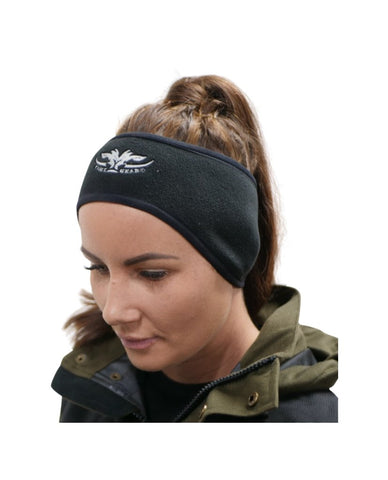 Black fleece headband/ear warmer