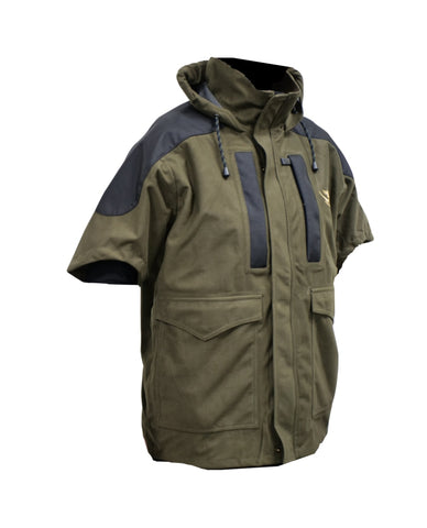 Kids Olive waterproof hunting and outdoors jacket
