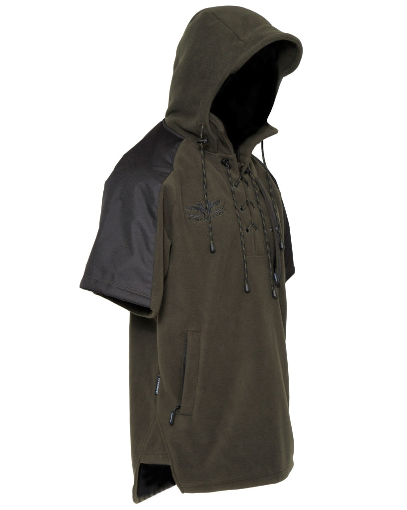 Kids windproof and water resistant Jacket for hunting and outdoors with lace up front and zip pockets