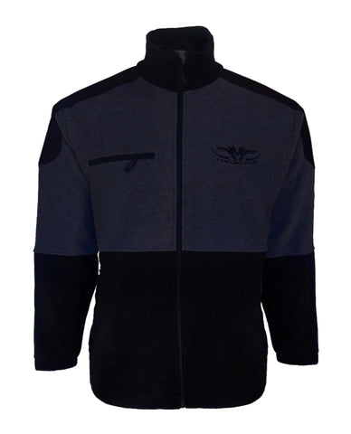 Kids Navy and Black Fleece Jersey with full zip front and zip pockets
